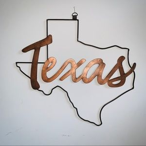 Texas Metal Copper Colored Wall Art NWOT